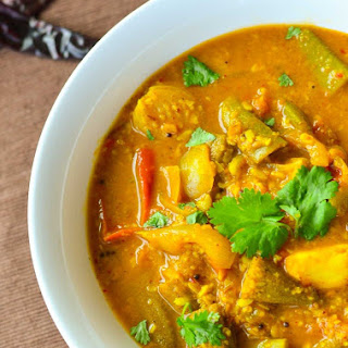 Healthy Sambhar with Lentils and Vegetables