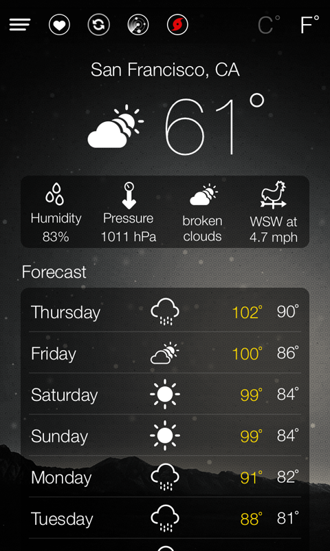 World Weather Forecast - screenshot