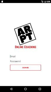 ARPT Online Coaching - náhled