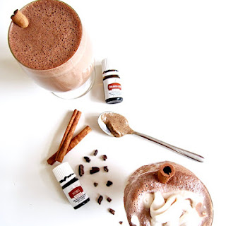 Healthy Hazelnut Spiced Hot Chocolate (With Essential Oils!).