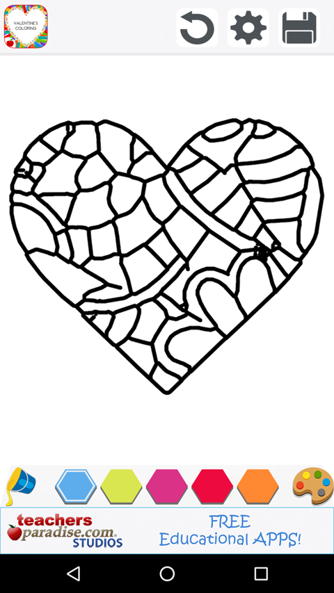 Adult Coloring: Valentines Day- screenshot