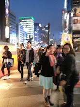 Photo: Mama Chelle and Mitch in Gangnam Street at Night