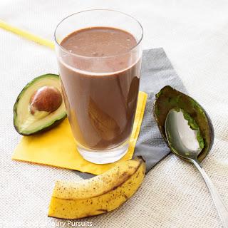 Avocado and Chocolate Smoothie.