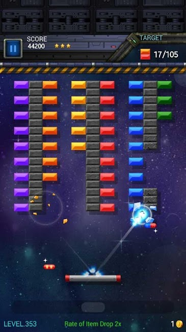 #1. Brick Breaker Star: Space King (Android)