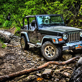 Offroading in Summer by Luke Porter - Transportation Automobiles ( automotive, epic, mountain, hdr, utah, jeep, offroad, offroading )