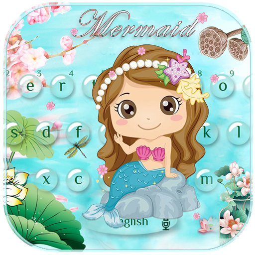 Cute Mermaid Keyboard