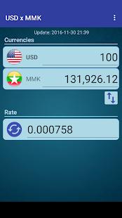 Us Dollar To Myanmar Kyat S On