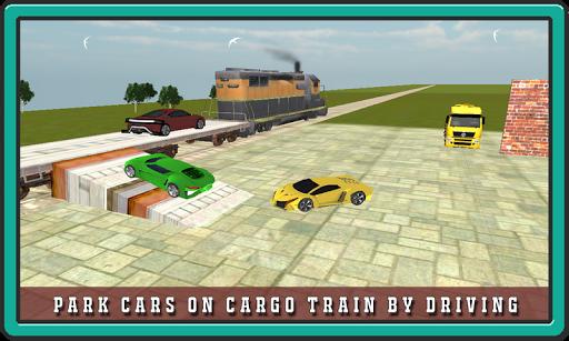 Car Transporter Cargo Train 3D