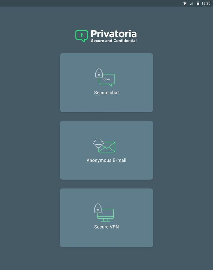 Privatoria VPN+Tor, Messenger- screenshot