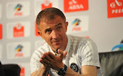 Milutin Sredojevic, head coach of Orlando Pirates during the Absa Premiership Monthly Awards on 05 April 2018 at PSL Offices.