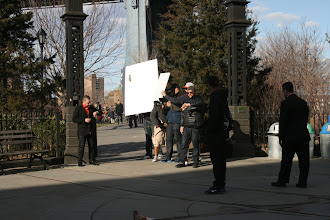 Photo: Some kind of photography for videography going on in DUMBO.