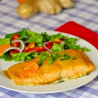 Ginger Orange Glazed Salmon