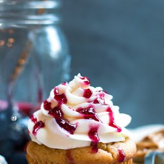 Peanut Butter Cupcakes with Jelly Filling