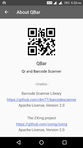 Download QBar - Qr and Barcode Scanner Google Play softwares