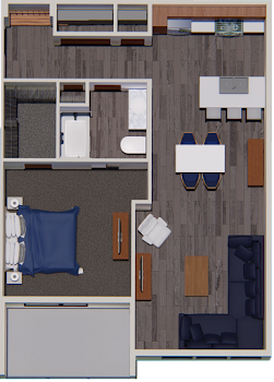 Go to The 821 Floorplan page.