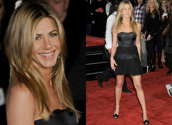 aniston short red carpet dresses""