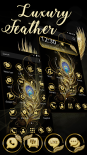 Gold Feather Theme - náhled
