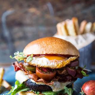 Cheddar Bacon Portobello Mushroom Burger..