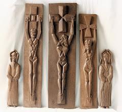 Photo: Figura central: 80 x 21 cm. || Talla en madera. Woodcarving.   Puedes conocer más de este artista en el blog: http://tallaenmadera-woodcarving-esculturas.blogspot.com/