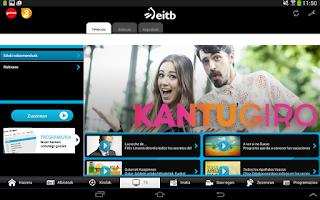 Screenshot of EITB