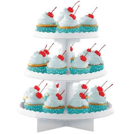 Cupcakeställ - Vit