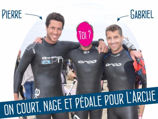 gabriel-et-pierre-triathlon-preparation-iron-man-nice-28-juin-2015-au-profit-de-l-arche-handicap-mental