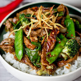 Spicy Ginger Beef Stir Fry.