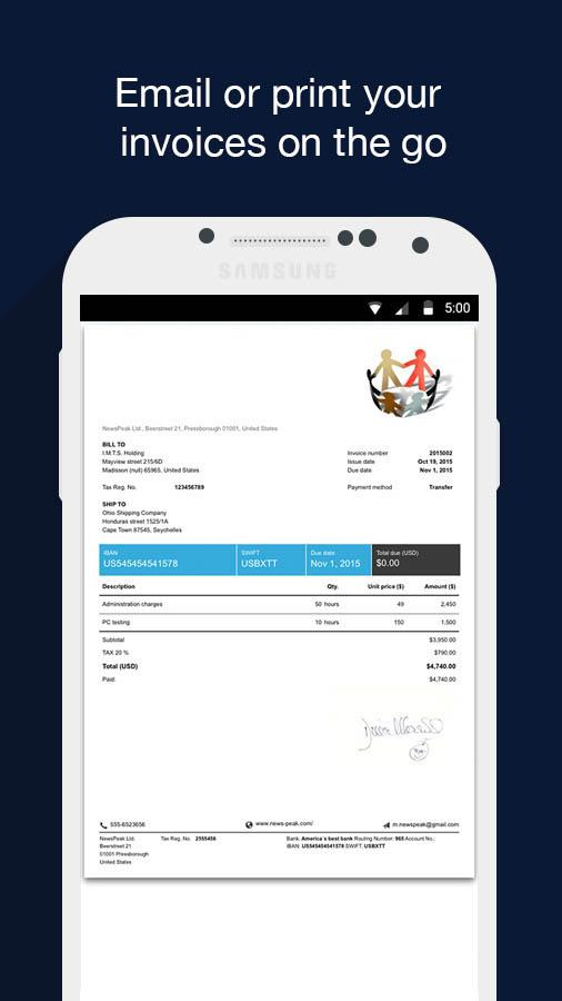 Invoice & Estimate - Billdu- screenshot