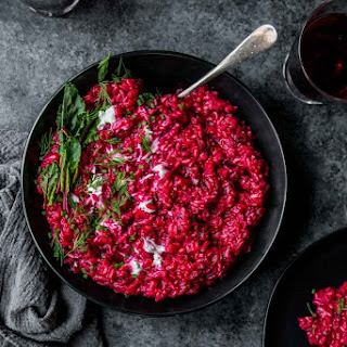 Beet Risotto with Goat Cheese Recipe