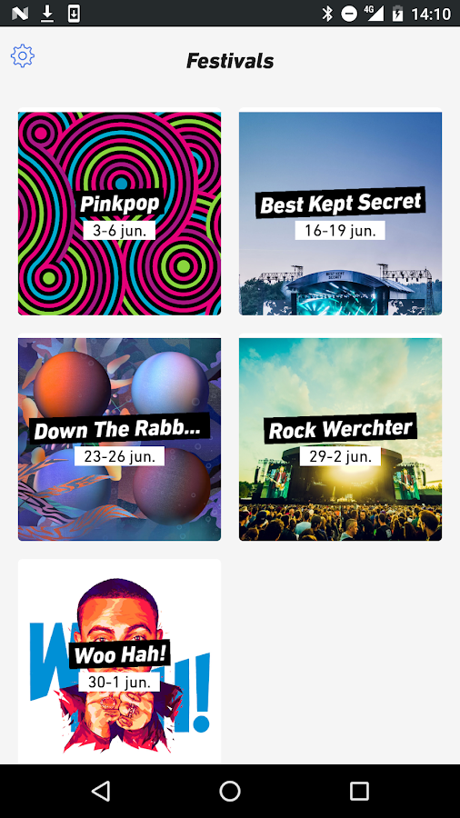 3FM Festivals: screenshot