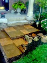 Photo: Sandstone steps. A BIT better than the concrete builder's slabs eh?