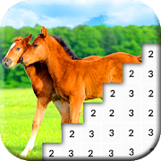 Color by Number: Horse Pixel Art Game icon