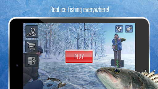 Ice fishing games for free. Fisherman simulator. screenshots 4