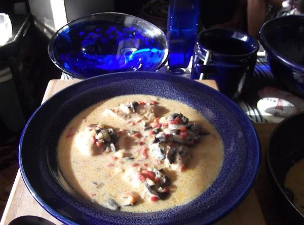 Stir and serve, ladling sauce over chicken.