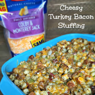 Cheesy Turkey Bacon Stuffing.