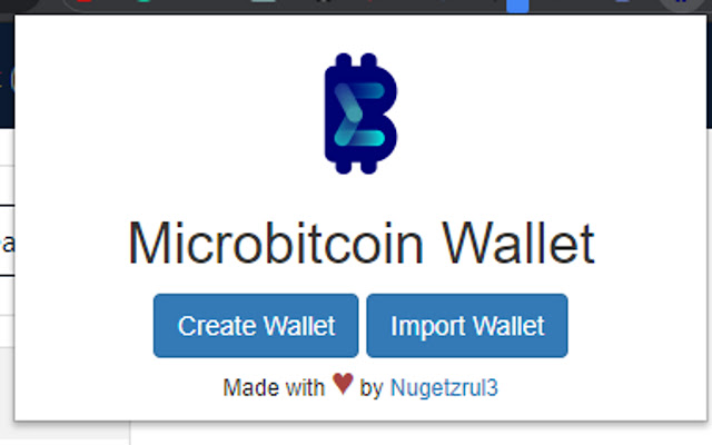 Microbitcoin Wallet Extension