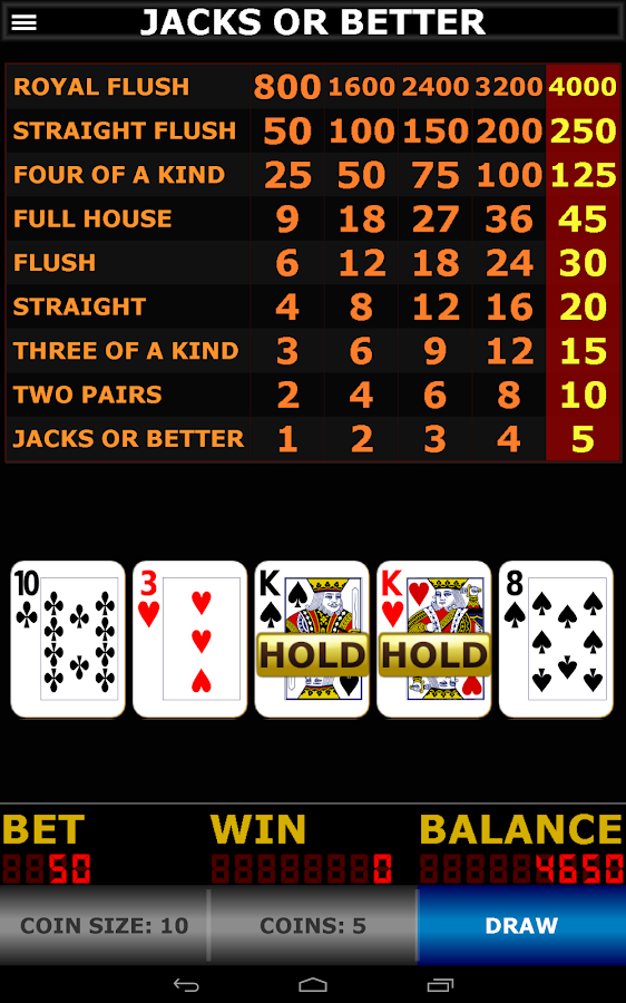 video poker 9 6 jacks or better strategy sheet