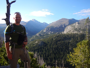 Photo: Bill on the Hallett Peak trail. Photo courtesy of Bill Walker