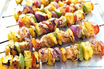 Hawaiian Chicken Kabobs Recipe | She Wears Many Hats