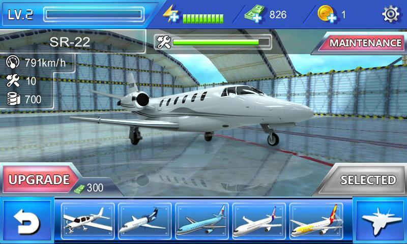 Screenshots of Plane Simulator 3D for iPhone