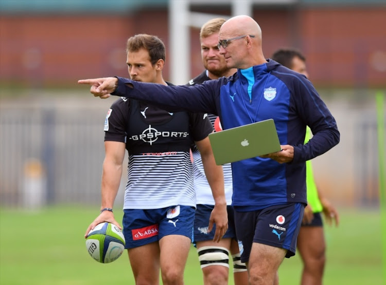 Coach John Mitchell during the Vodacom Bulls training session and press conference at Loftus Versfeld on February 22, 2018 in Pretoria.