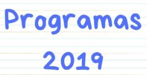 Programas 2019
