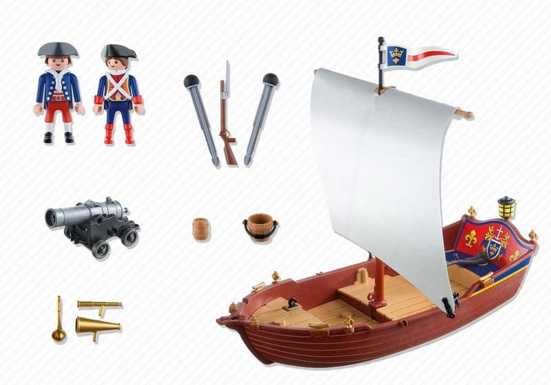 Contenido real de Playmobil® 5948 Barco de Soldados