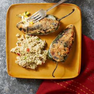 Chiles Rellenos with Chicken.