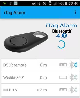 JG iTag Alarm- screenshot