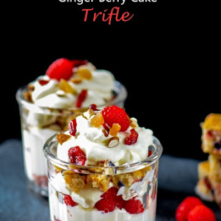 Ginger Mixed Berry Cake Trifle