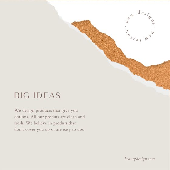 Beauty Design Big Ideas - Instagram Post Template