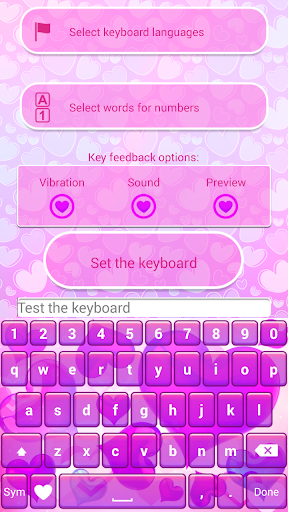 Valentines Day Hearts Keyboard