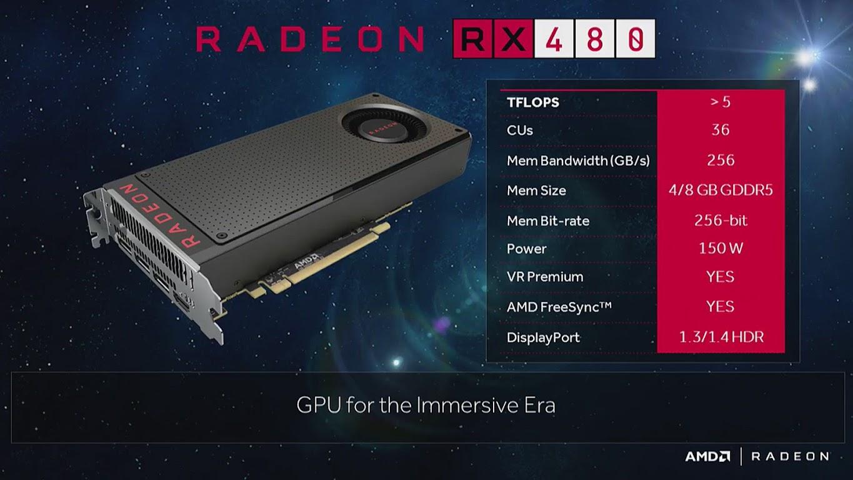 AMD xác nhận Radeon RX 480 bản 8 GB giá 229 USD