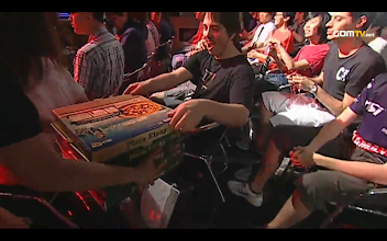 Photo: Me getting pizza on stream